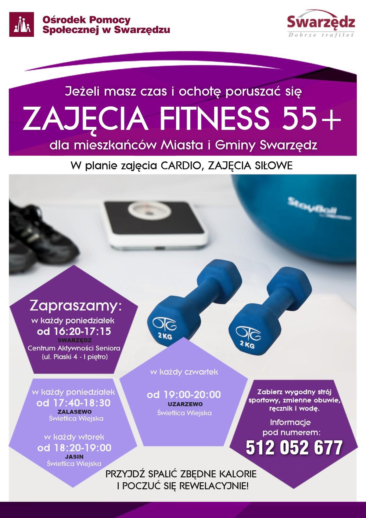 plakat zajecia fitness 2019